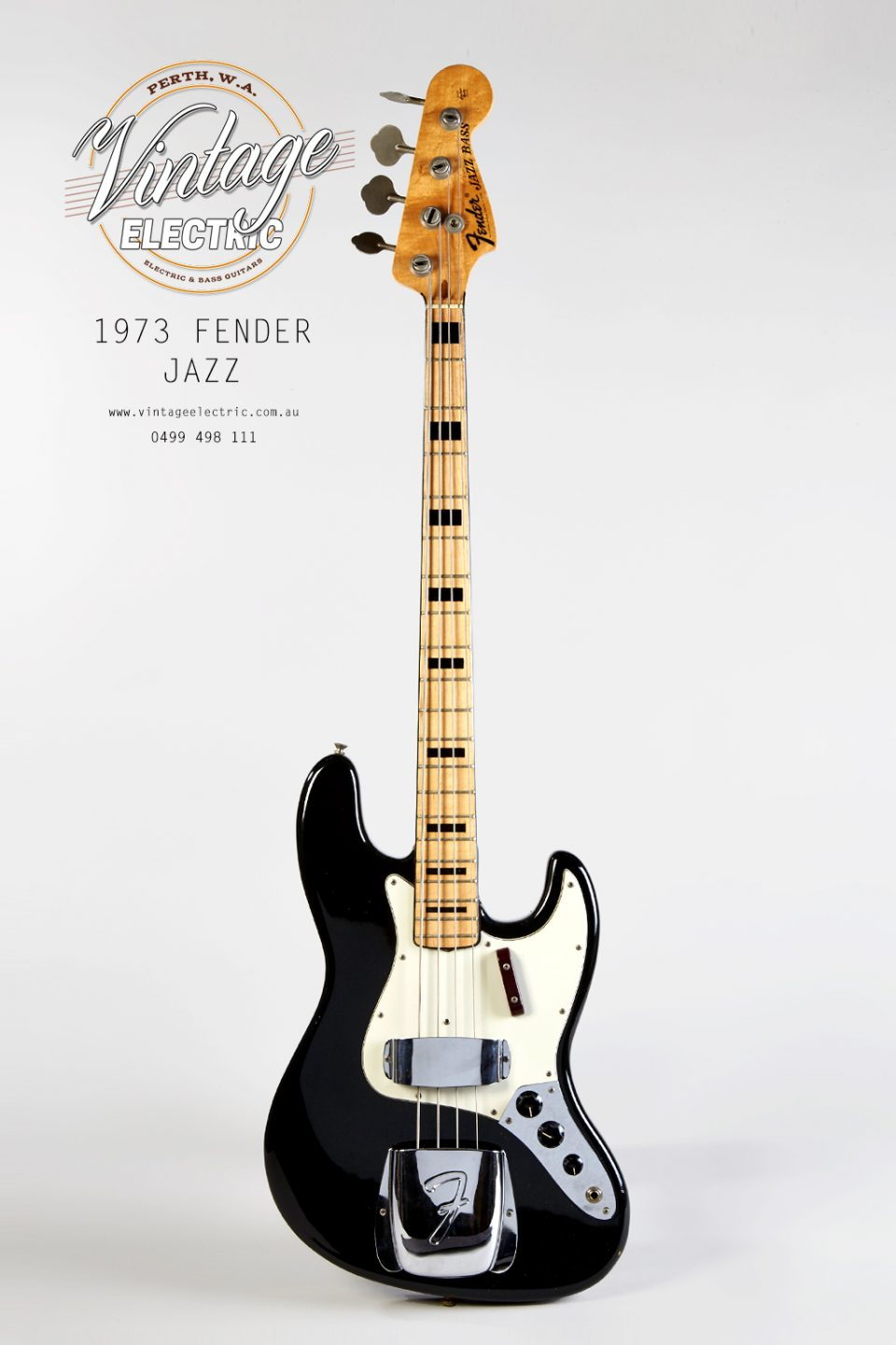1973 Fender Jazz Bass Black