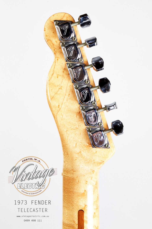 1973 Fender Telecaster Back of Headstock