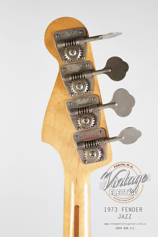 1973 Fender Jazz Back of Headstock