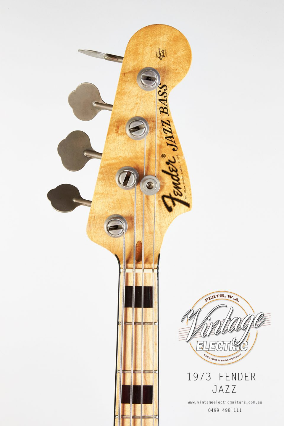 1973 Fender Jazz Bass Headstock