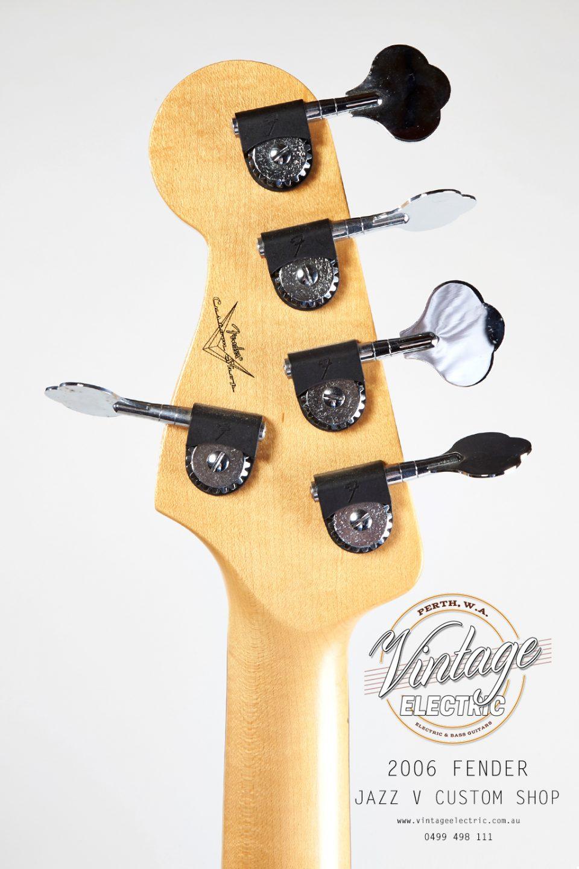 2006 Fender Jazz V Back of Headstock