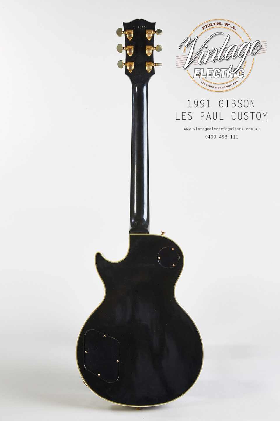 1991 Gibson Les Paul Custom Black Beauty Back of Body