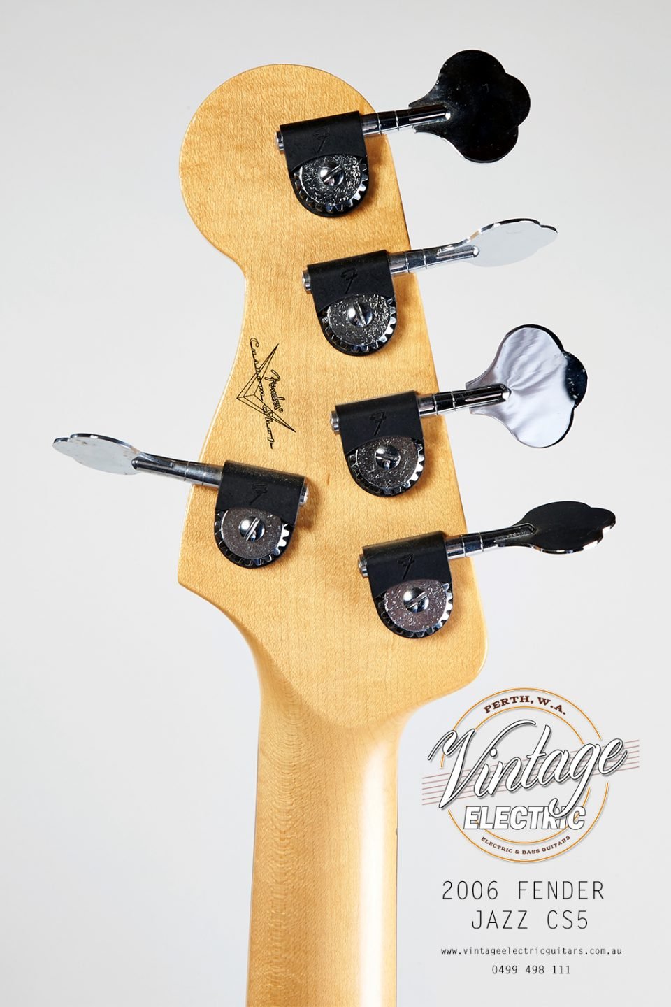 2006 Fender Jazz Back of Headstock