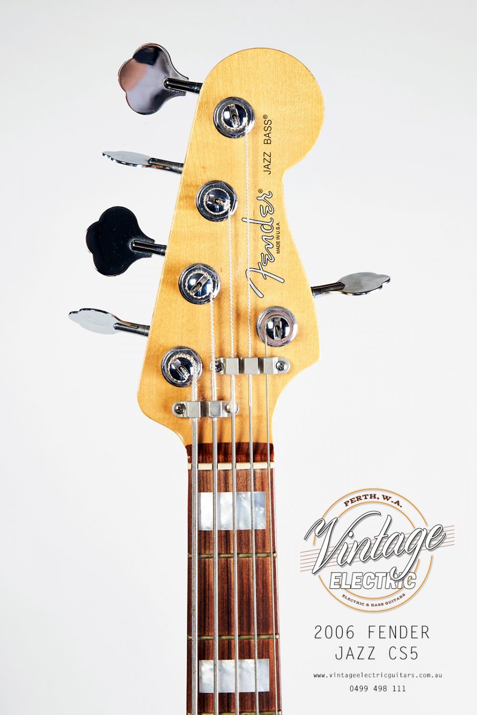 2006 Fender Jazz 5 Headstock