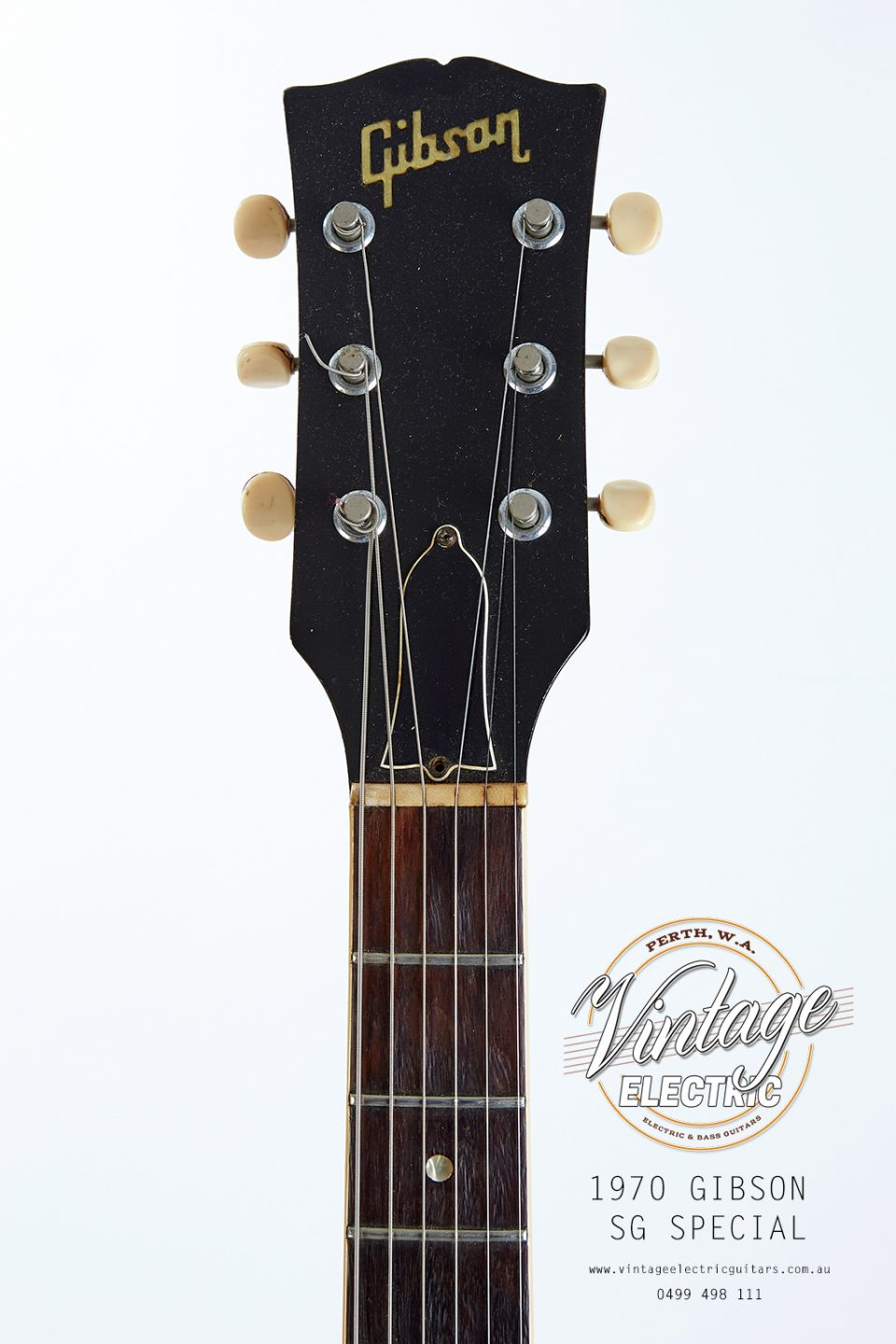 1970 Gibson SG Special Headstock