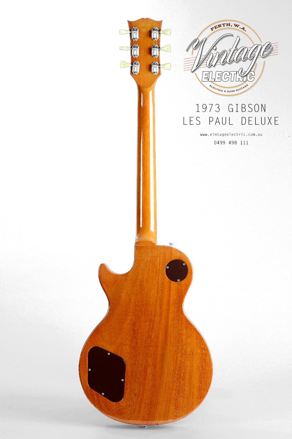 1973 Gibson Les Paul Goldtop Back of Body