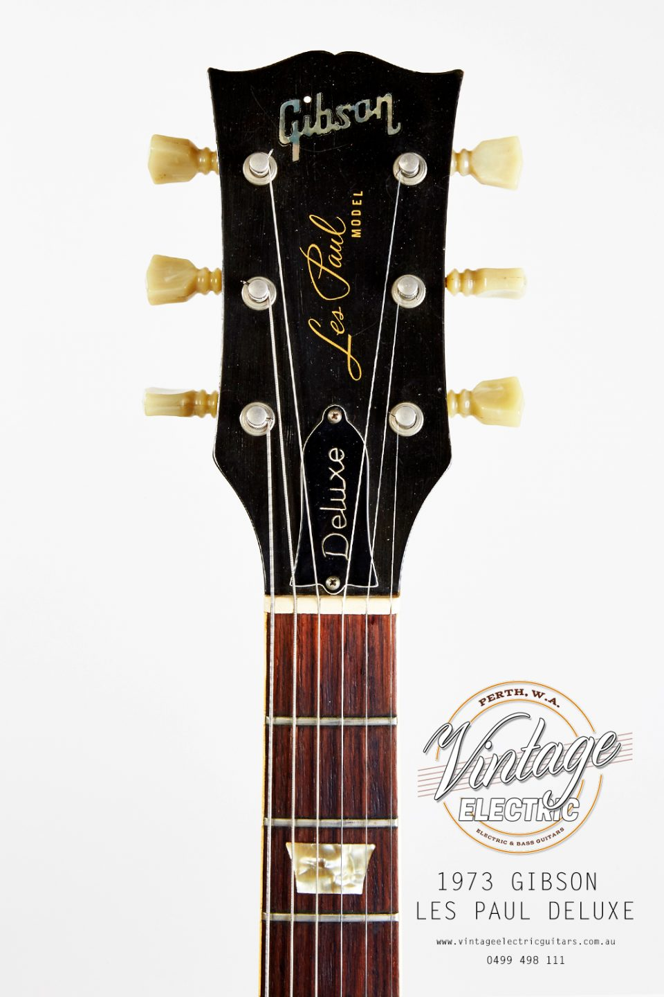 1973 Gibson Les Paul Goldtop Deluxe Headstock