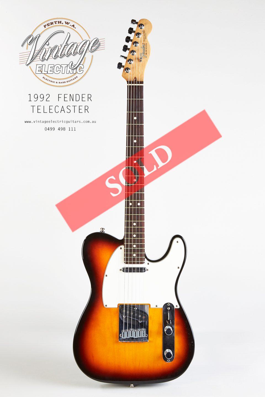 1992 Fender Telecaster Guitar SOLD