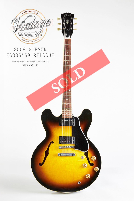 2008 SOLD ES335 1959 Custom Shop Dot Reissue Body