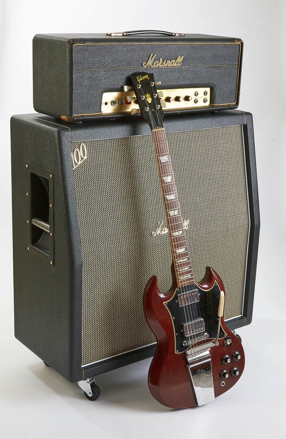 Angus Young Guitar and Amp