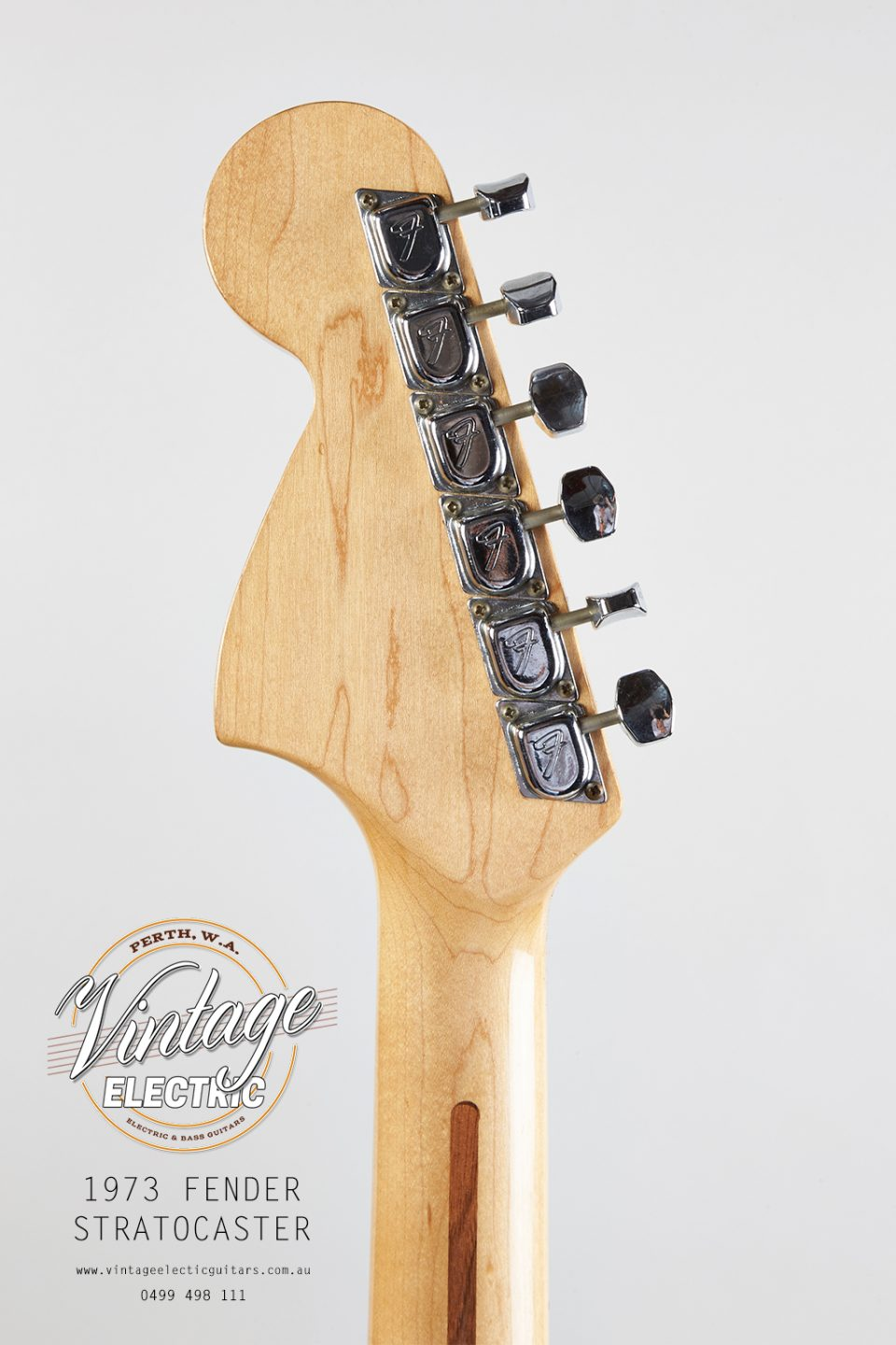 1973 Fender Stratocaster Back of Headstock