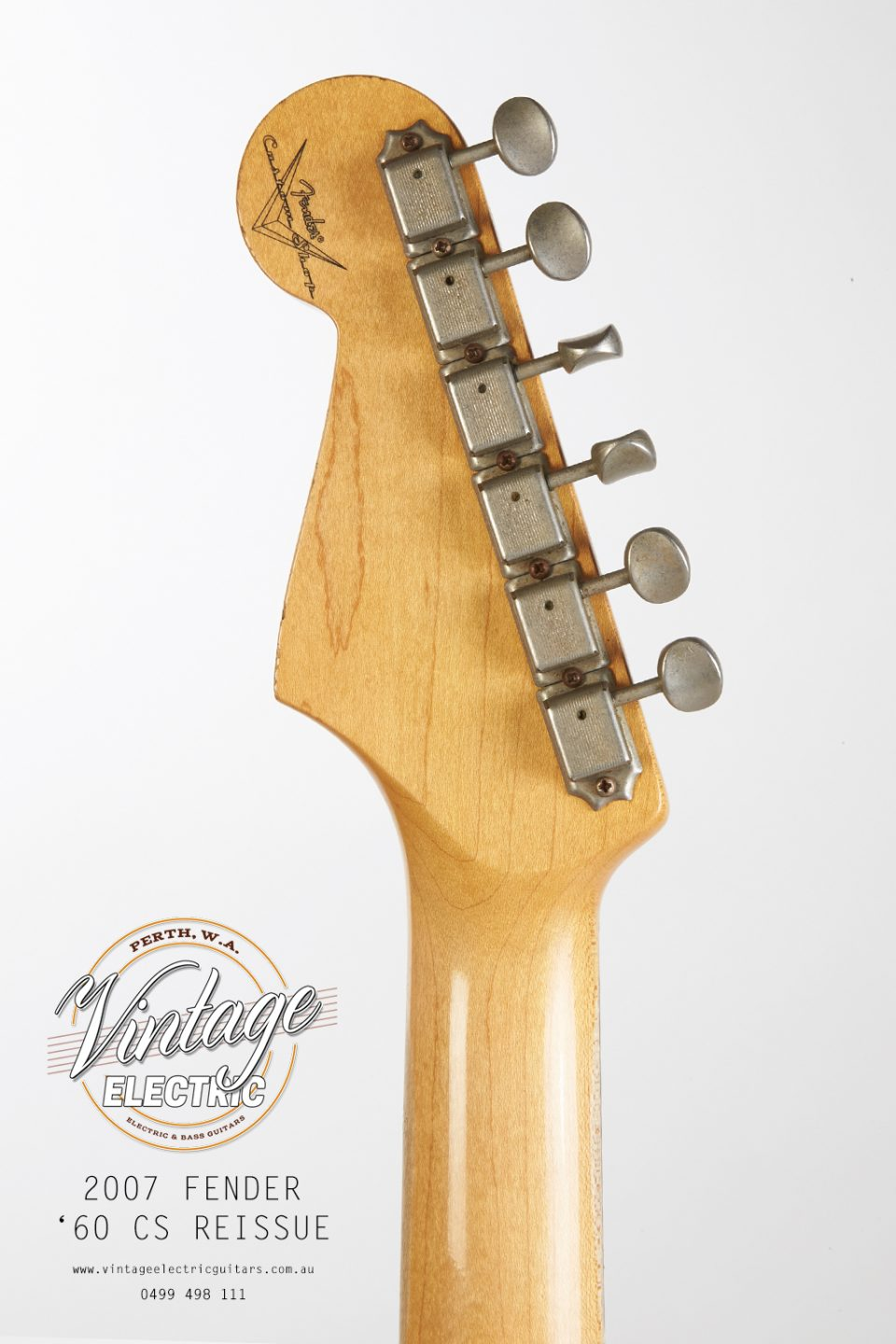 2007 Fender Stratocaster Back of Headstock