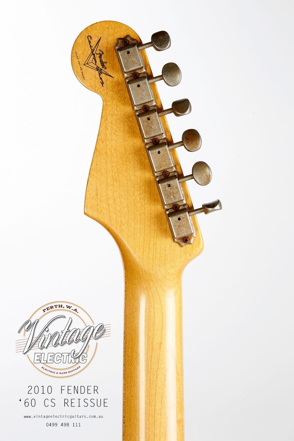 2010 Fender Stratocaster Back of Headstock