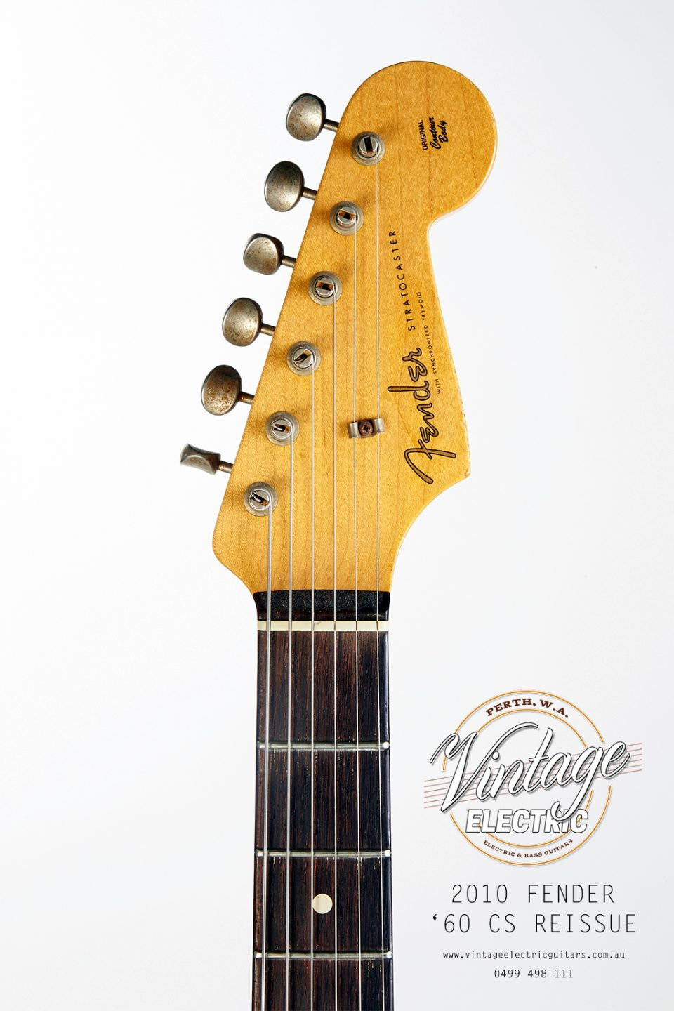 2010 Fender Stratocaster Custom Shop Headstock
