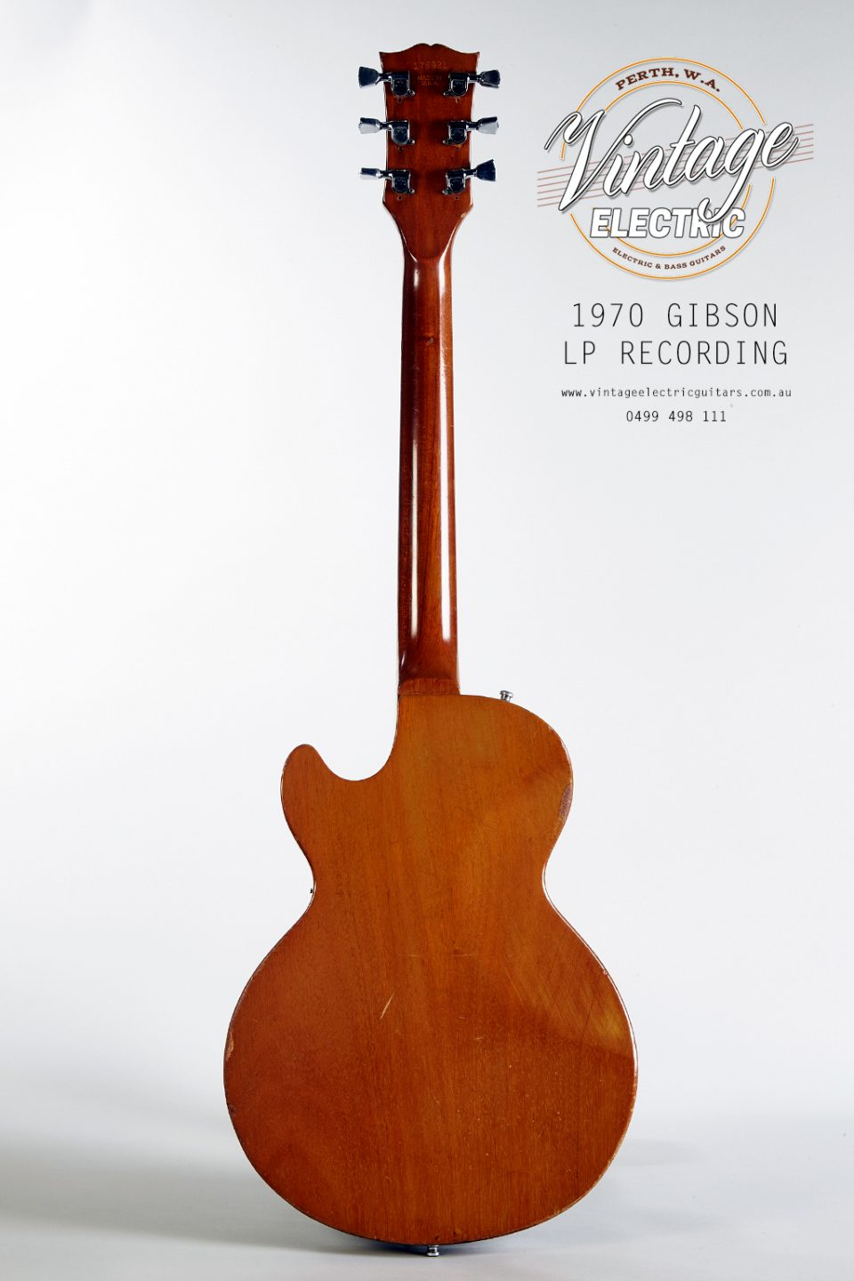 1970 Gibson Les Paul Recording Back of Body
