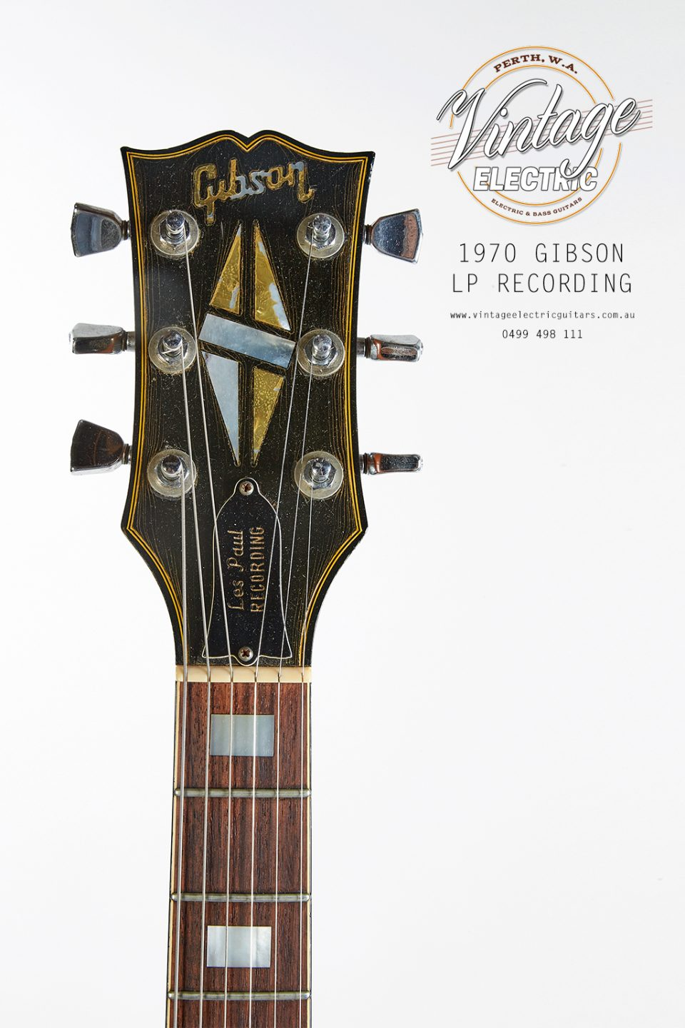 1970 Gibson Les Paul Recording Headstock