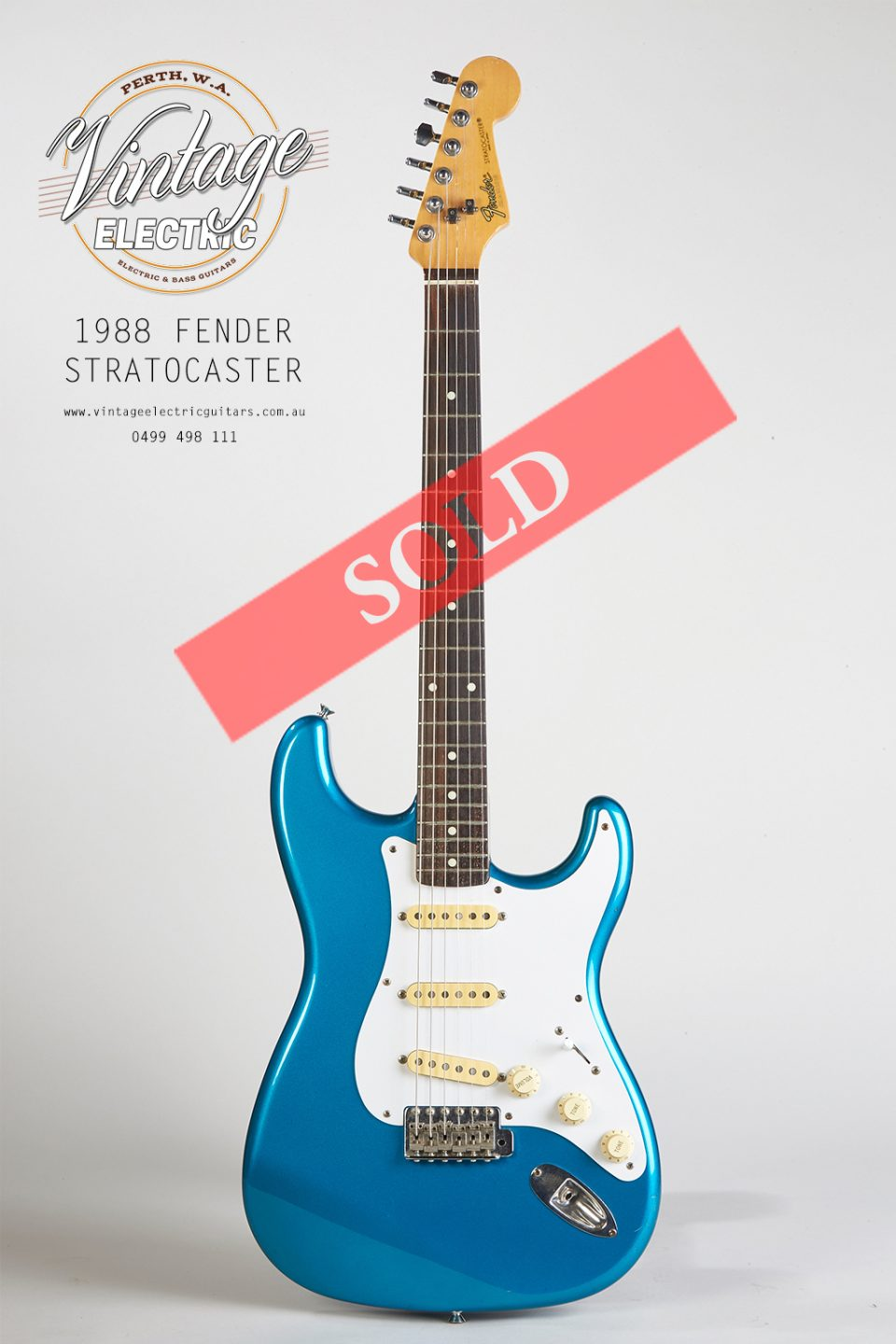 1988 Stratocaster Blue Large SOLD
