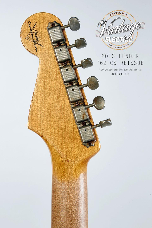 2010 Fender Stratocaster 1962 Custom Shop Back of Headstock