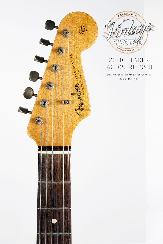 2010 Fender Stratocaster 62 Custom Shop Headstock