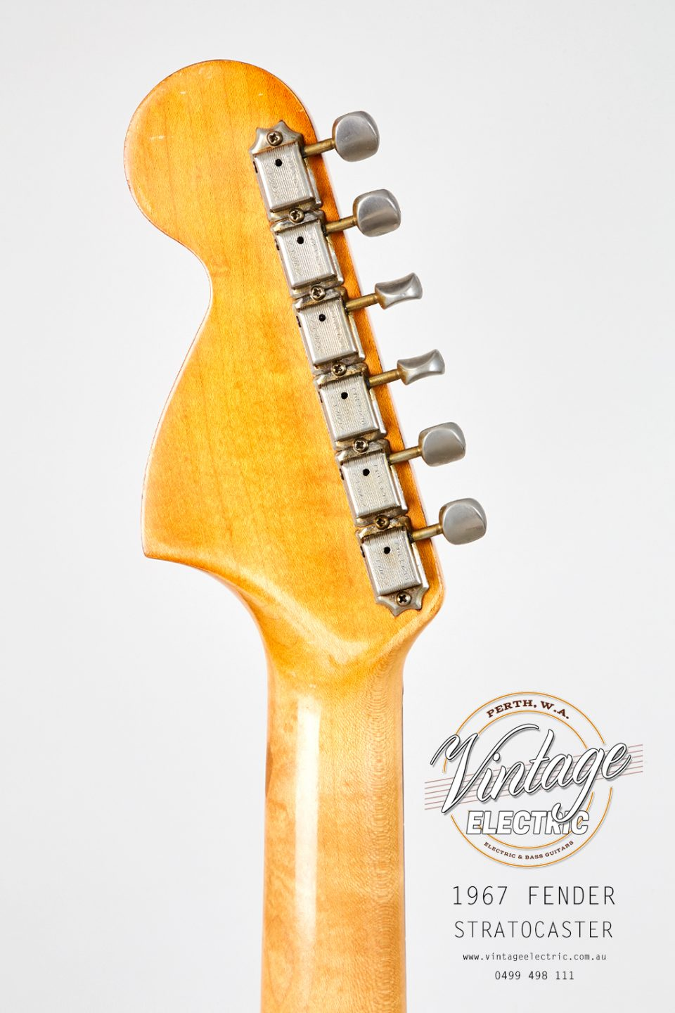 1967 Fender Stratocaster US Back of Headstock