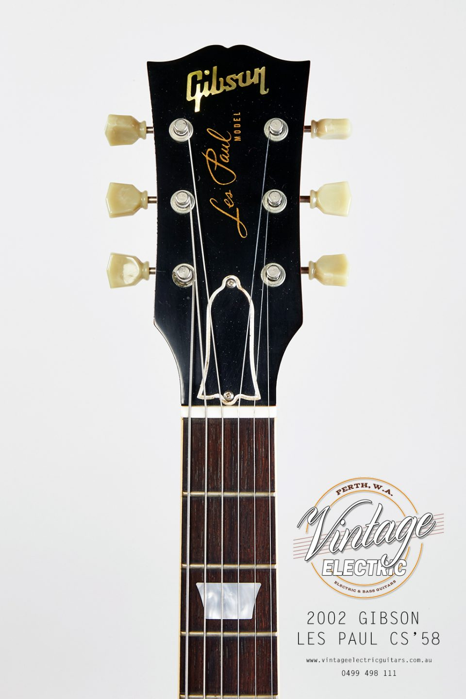 2002 Les Paul 1958 Reissue Custom Shop Headstock