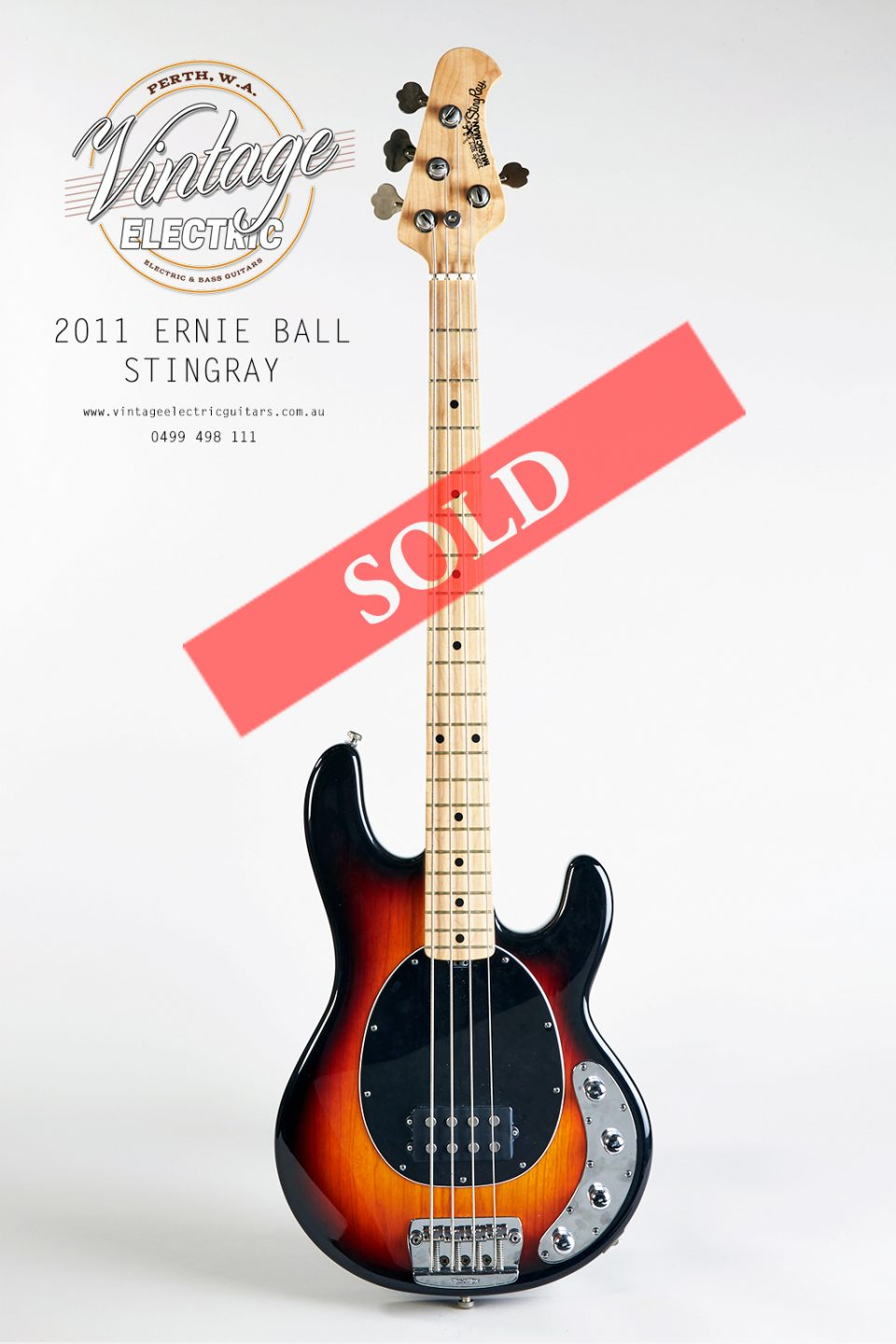 2011 ernie ball musicman stingray bass vintage electric guitars. Black Bedroom Furniture Sets. Home Design Ideas