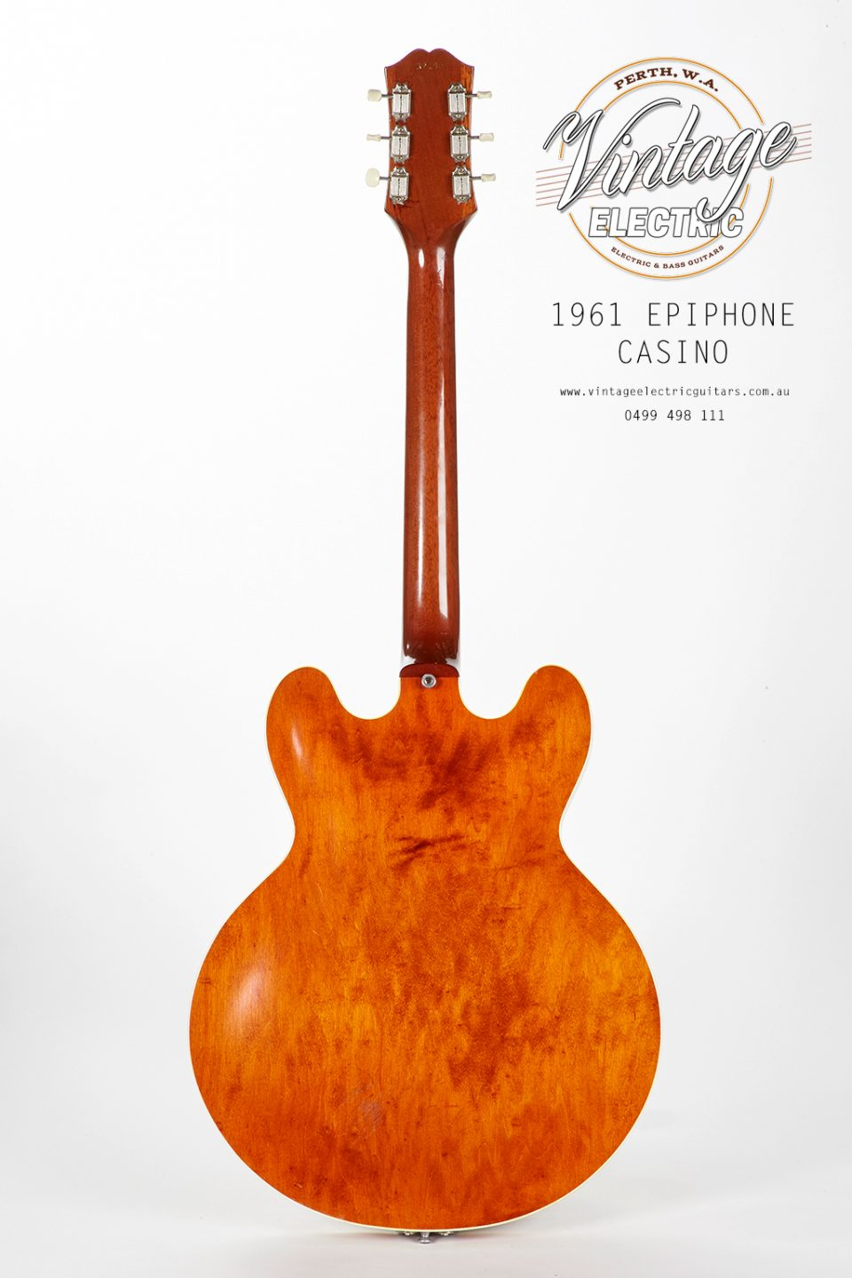 1961 Epiphone Casino Back of Body