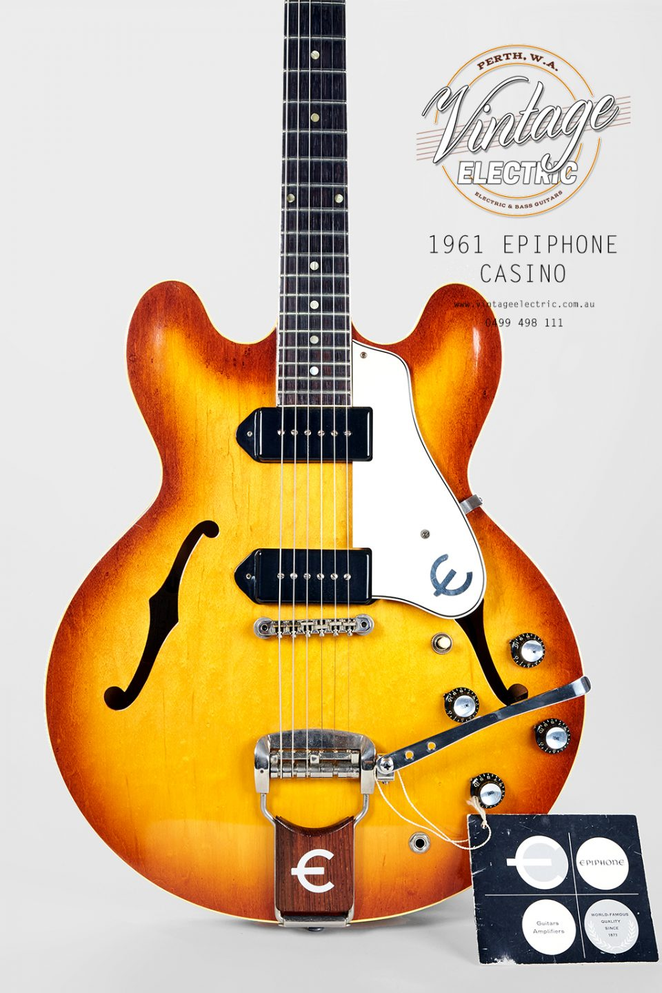 1961 Epiphone Casino Iced Tea Body
