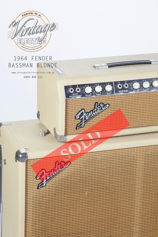 1964 Fender Bassman Blonde Piggyback