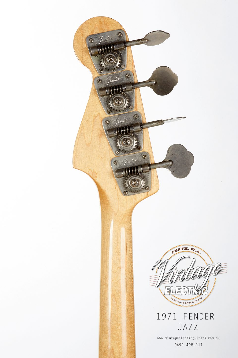 1971 Fender Jazz Bass Back of Headstock