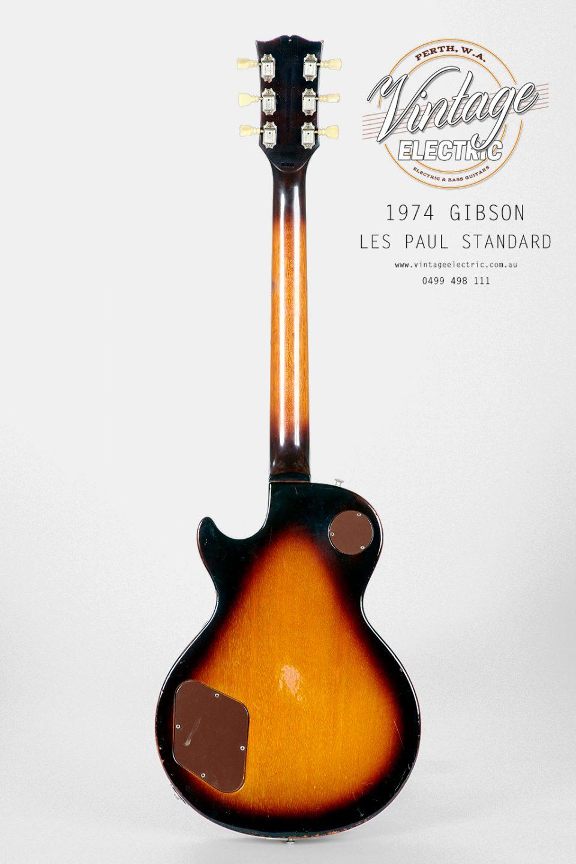 1974 Gibson Les Paul Standard Back of Body