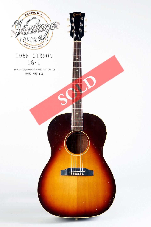 1966 Gibson LG-1 Acoustic Vintage Guitar USA