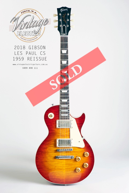 2018 Gibson Les Paul Custom Shop 1959 Reissue