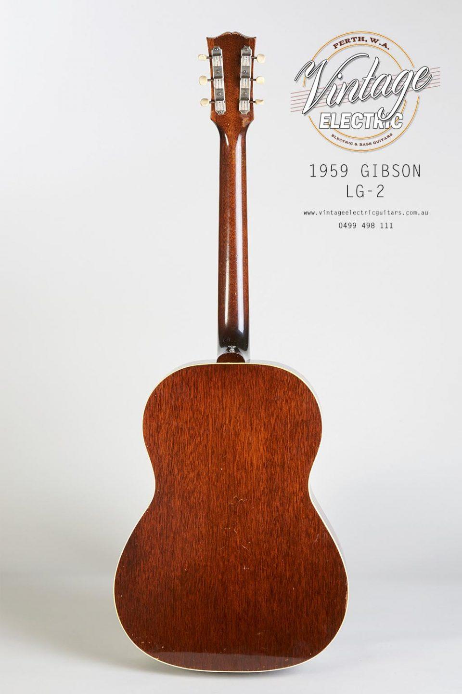 1959 USA Gibson LG2 Back of Body