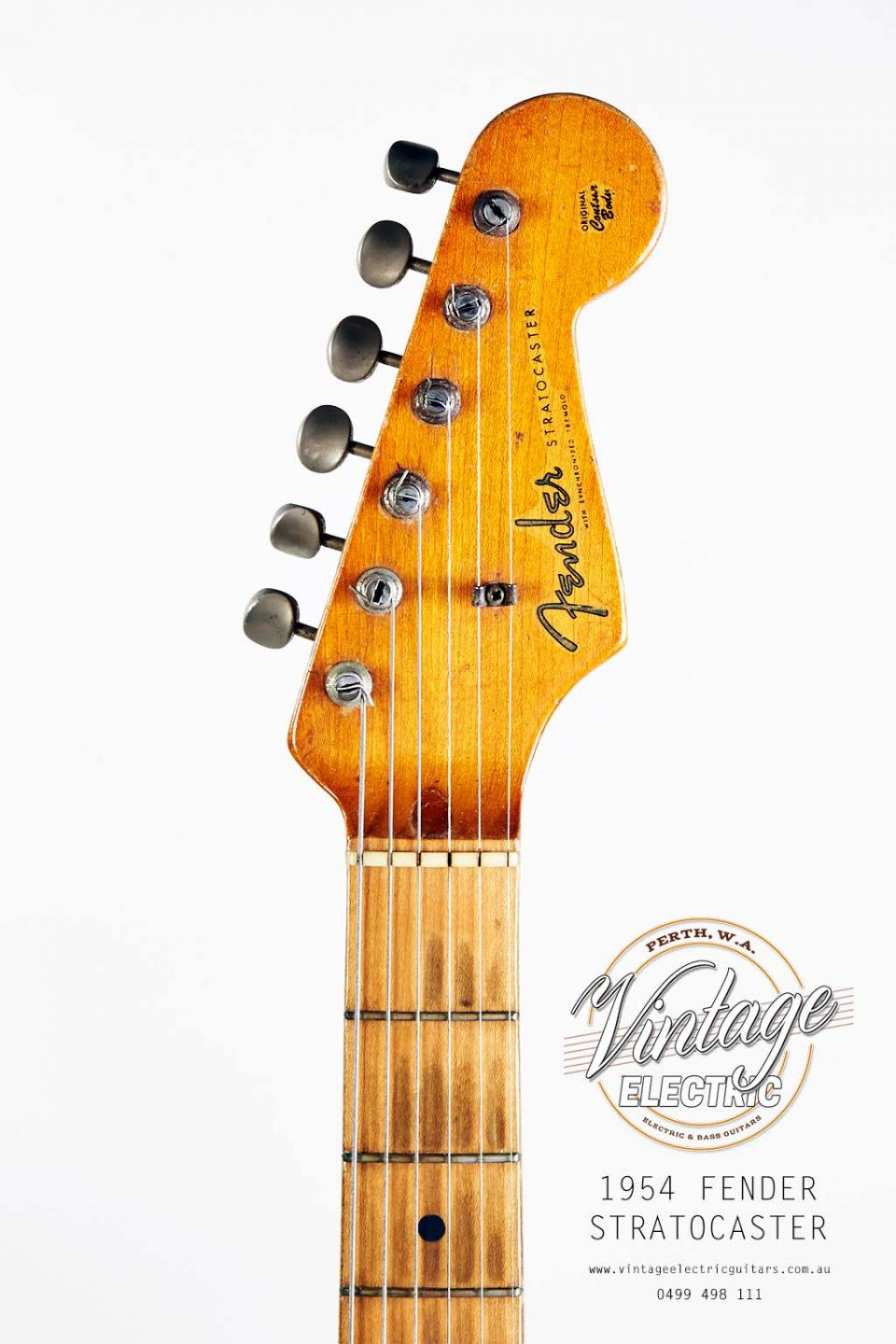 USA 1954 Fender Stratocaster Headstock