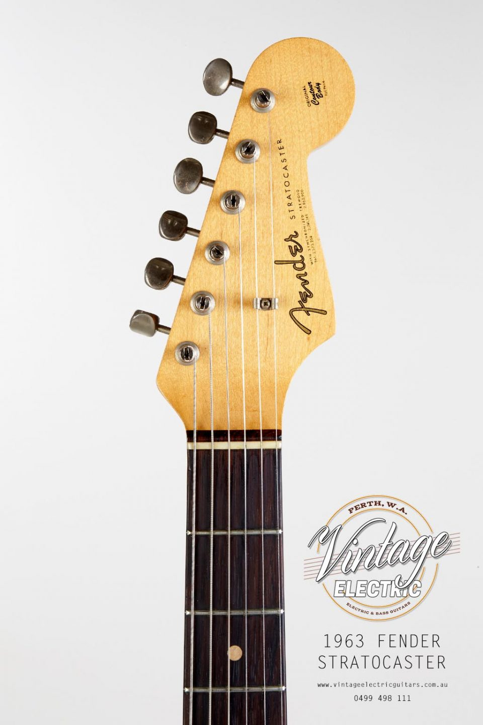 USA 1963 Fender Stratocaster Headstock