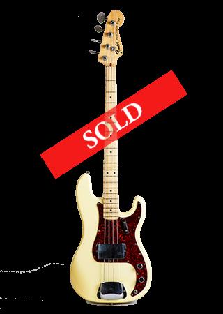 1971 Fender Precision Olympic White
