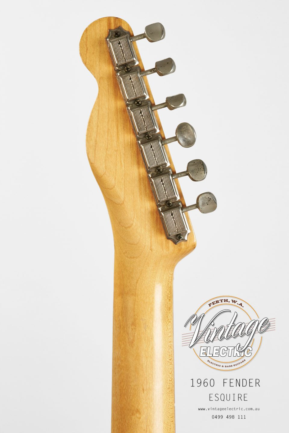 1960 Fender Esquire Blonde Back of Headstock
