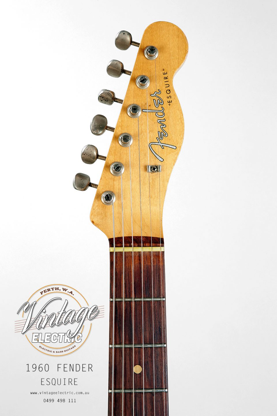 1960 Fender Esquire Blonde Headstock