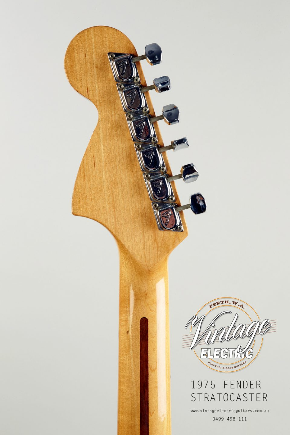 1975 Stratocaster Back of Headstock