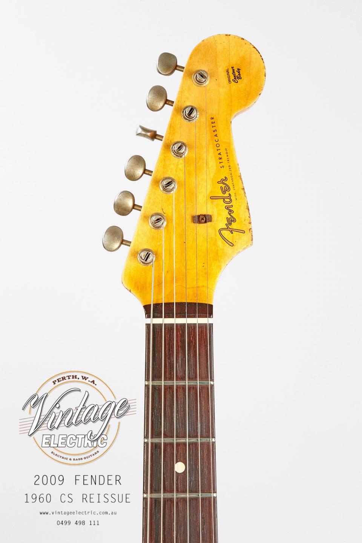 2009 Fender Stratocaster 1960 Firemist Gold Headstock