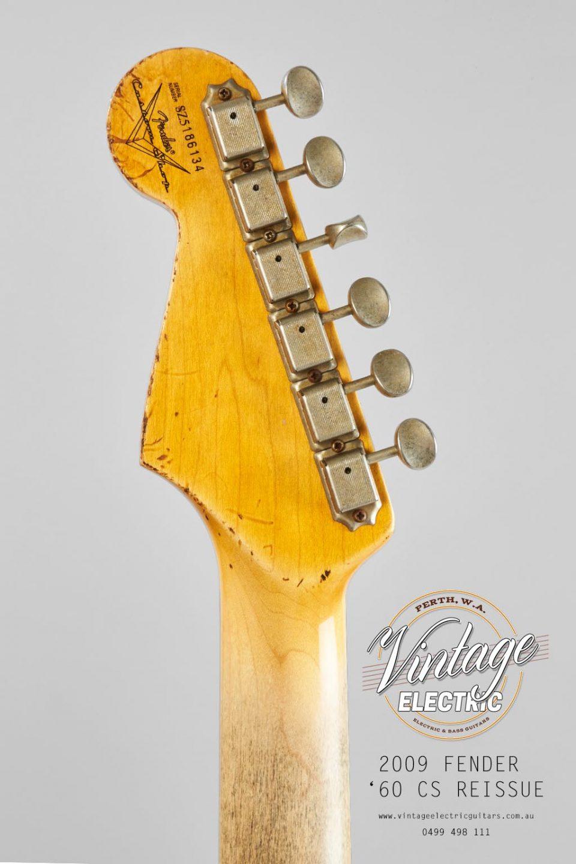 2009 Fender Stratocaster Custom Shop Back of Headstock