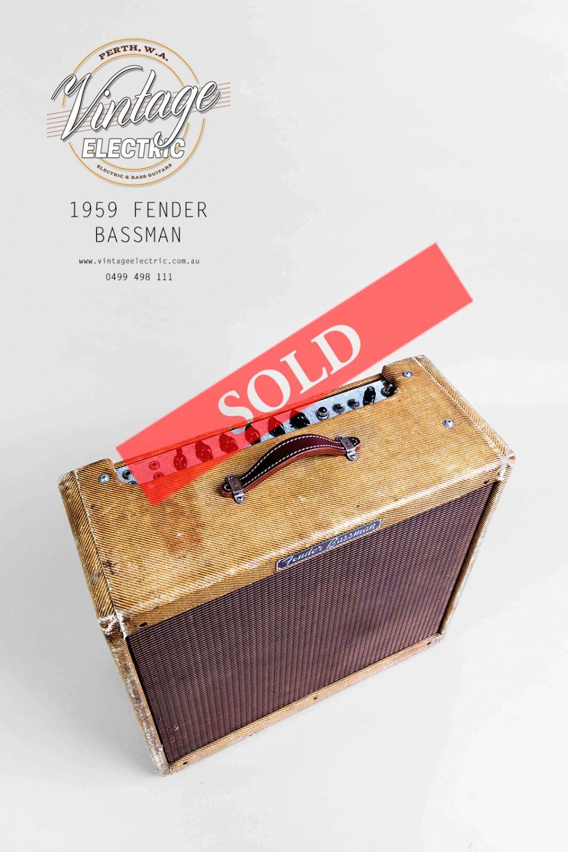1959 Fender Bassman LARGE SOLD