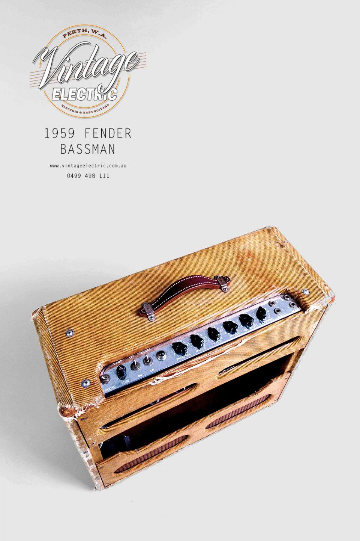 1959 Fender Bassman Tweed Panel