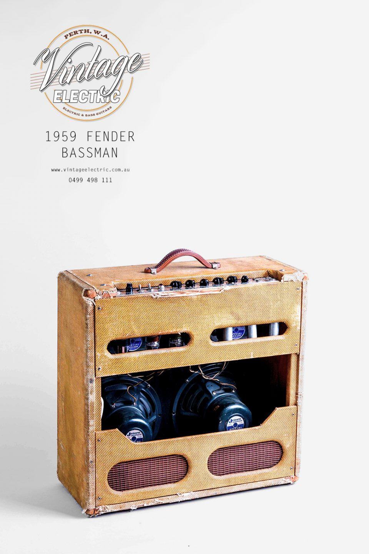 1959 Fender Bassman Tweed Rear