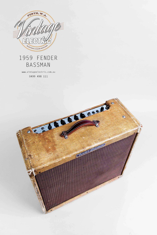 1959 Fender Bassman Tweed Top