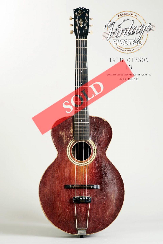 1918 Gibson L3 Vintage Acoustic Guitar