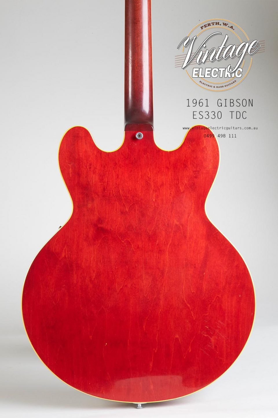 1961 Gibson ES 330 TDC Back of Body