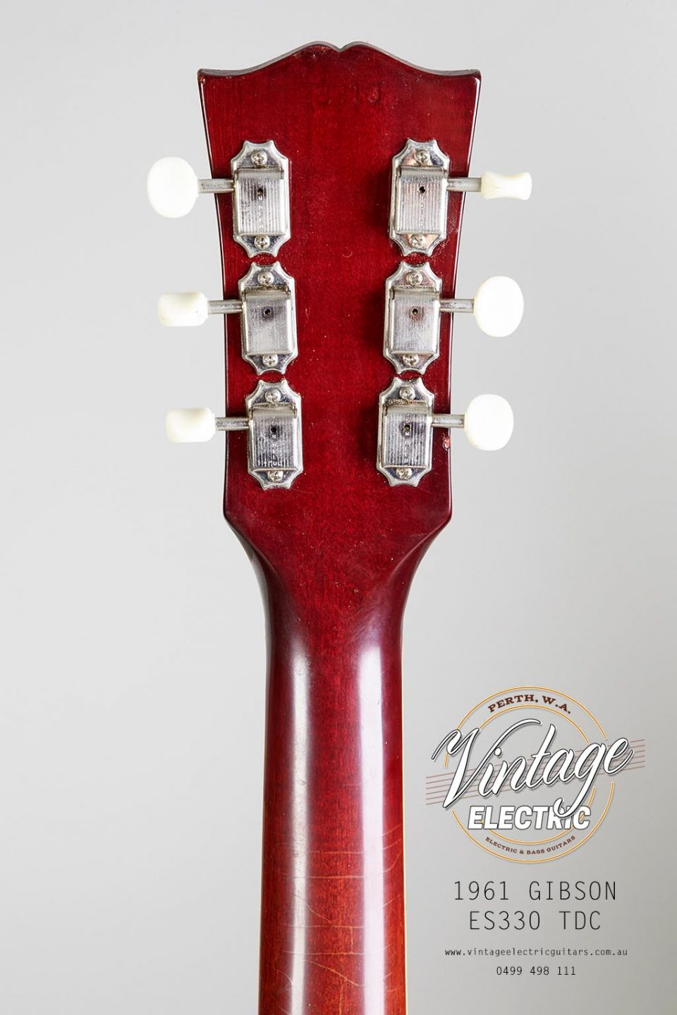 1961 Gibson ES 330 TDC Back of Headstock