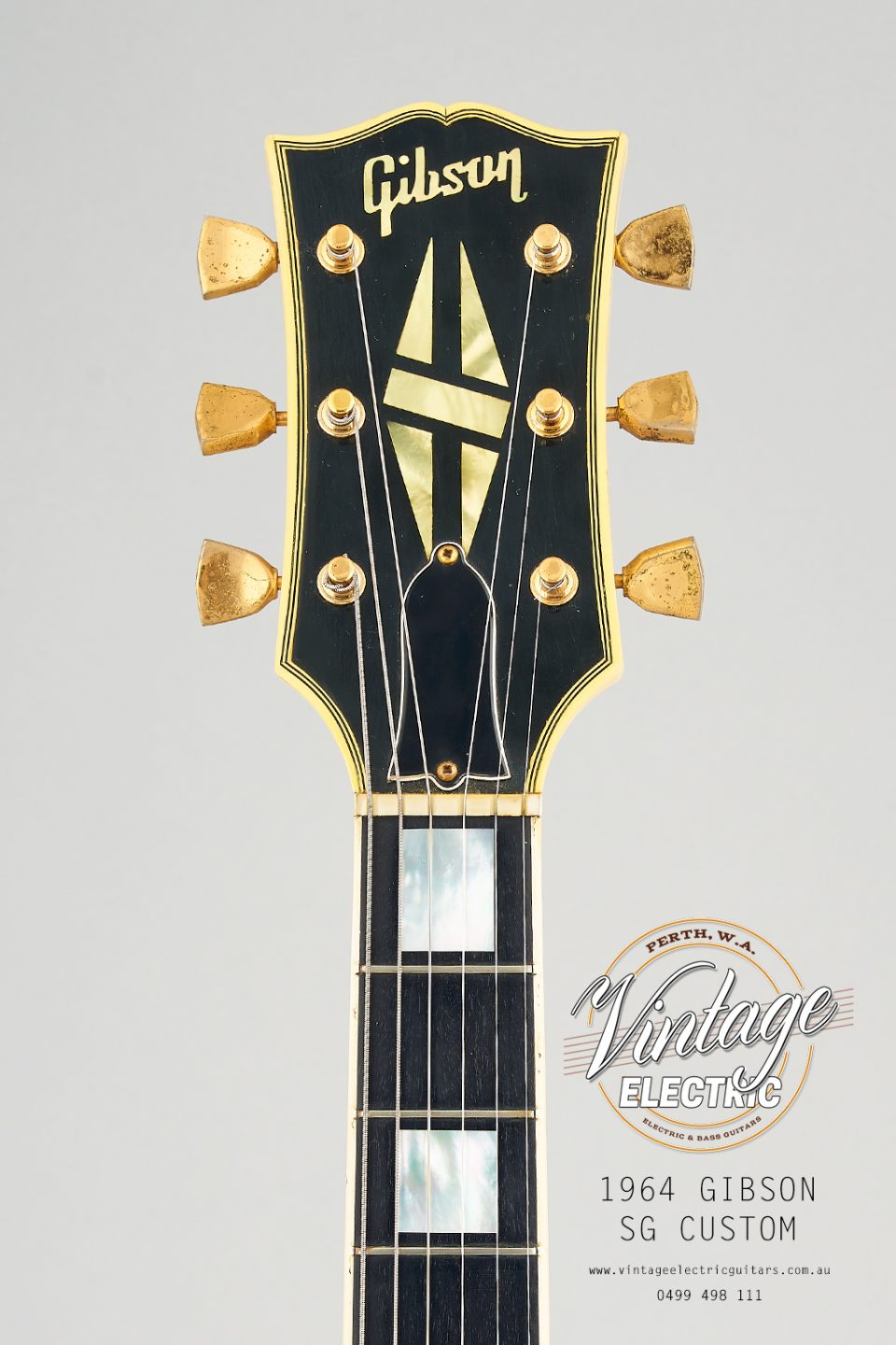 1964 Gibson SG Custom Headstock
